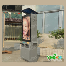 Outdoor solar power advertising display signage light box