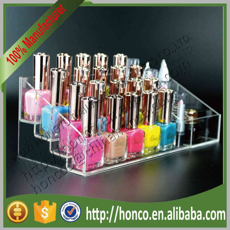 4 Tiers Cosmetics Nail Polish Acrylic Display Stand Rack,Clear Colour
