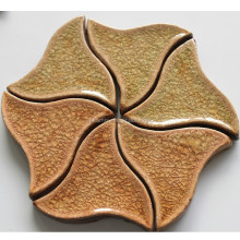 Triangle shape ceramic mosaic, free split joint mosaic tile