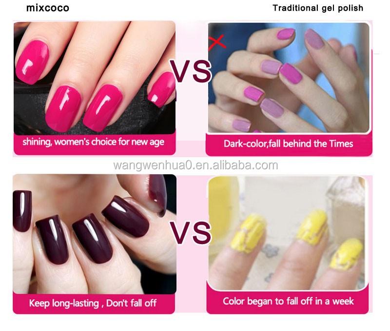 Mixcoco soak off glitter powder color coat gel sequins uv gel nail ...
