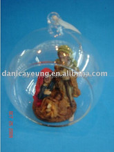 2015 open glass ball ornaments with objects inside for christmas decorations