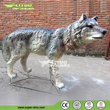 Life Size Simulated Animals Model of Animatronic Wolf