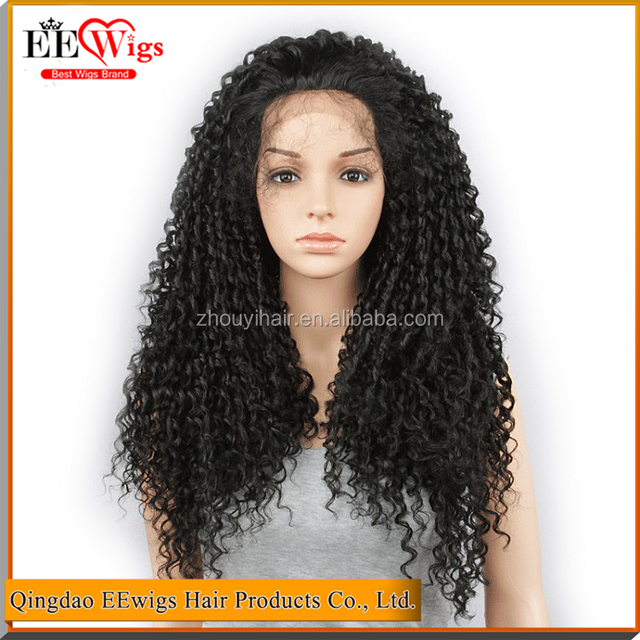 2017 new soft and popular synthetic braiding hair lace front wig with baby hair