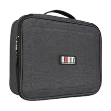 BUBM waterproof elastic band grid travel cable organizer case digital storage camera bag