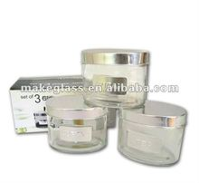 Oval shaped glass jar&canister
