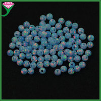 wholesale dealers beautiful OP26 blue 3mm round fire man made ethiopian welo opal beads