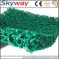 Hot sale waterproof shiny chenille shaggy mat under table mat