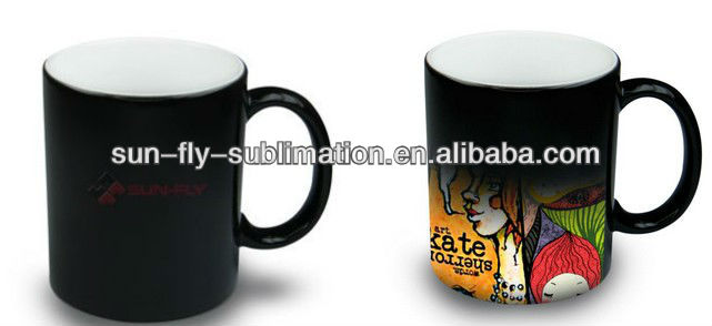 colour changing mug/blank magic mug/sublimation magic mug