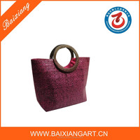 2015 good quality eco-friendly handmade paper straw handbag