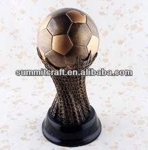 Semicircle bottom world soccer Awards metal champions league trophy resin creative gift