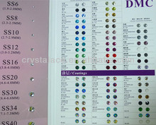 Crystal Ace flat back crystals hotfix crystals for garments