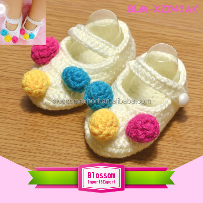 Hot sales cream cute handmade wholesale adult baby shoes