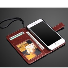 Hot Selling Fashion Mobile Phone Flip Pu Leather Wallet Case