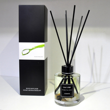 Home Fragrance Eco-friendly Glass Bottle Natural Aroma Scented Essential Oil Reed Diffusers with Rattan Sticks