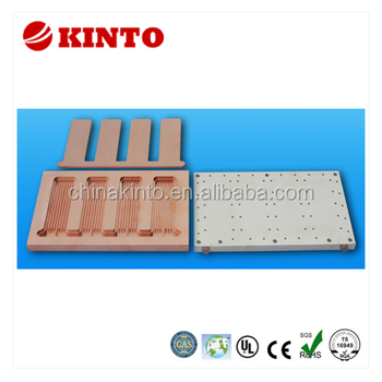 Liquid cooled heat sink, liquid cooled plate