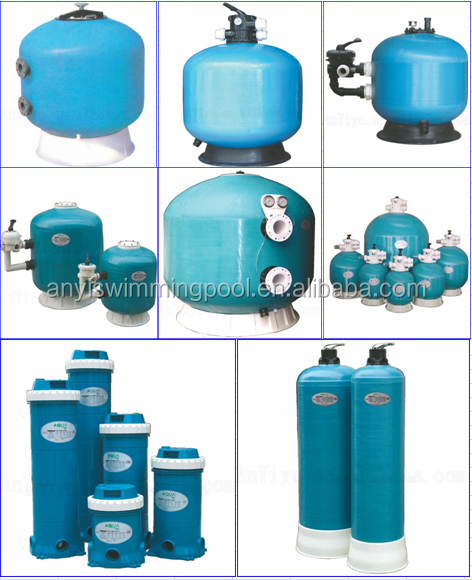 home swimming pool sand filter water tank with side mount design