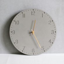 Handmade home decoration concrete 3d large wall clock with machine