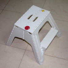 White PP Portable Folding Step Stool