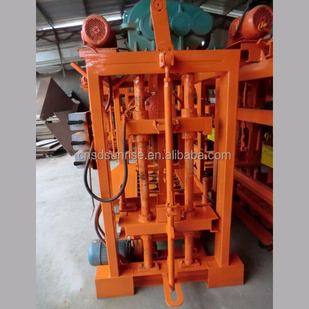 QTJ4-40 small paver brick making machine in Tanzania Kenya Algeria Moza mbique Nigeria Ethiopia Congo