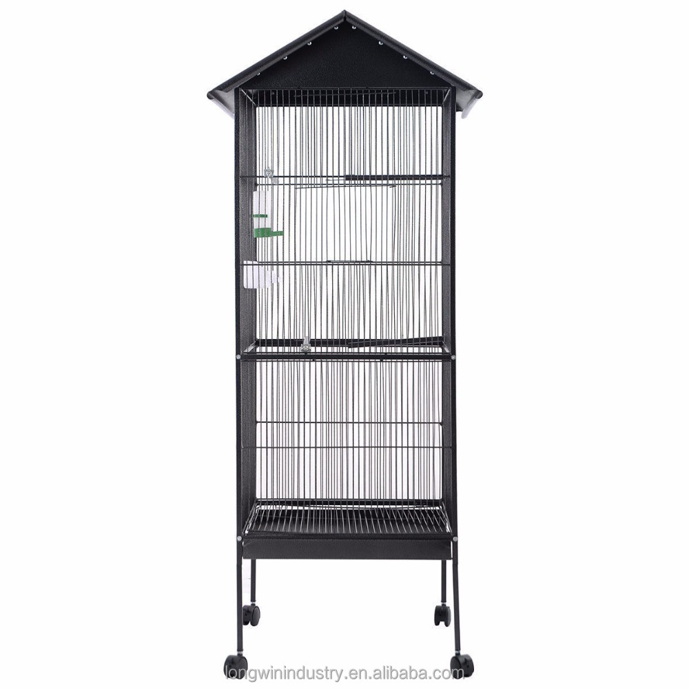 big outdoor Top Parrot Finch Feeder Pet House Bird Cage