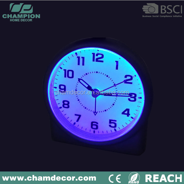 2014 new design promotion silicone table alarm clock , stop light alarm clock with date italian