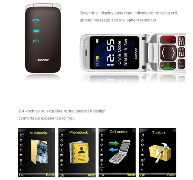 Big Button Dua Sim SOS Alarm Senior mobile phone unlocked with camera