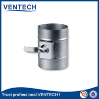 high quality brand product VENTECH round steel volume control Damper hvac system
