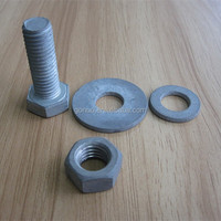 Gr8.8 hex head bolt with washer and nut