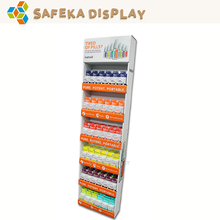 6 Tier merchandising stand corrugated point of purchase Hanging displays for Drugstore