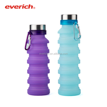 promo funny new design high quality silicone compressed water bottle with free logo