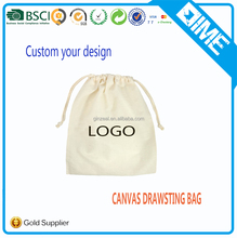 Screen Printed Cotton Drawstring Bag Pouch Dust Bags with Logo