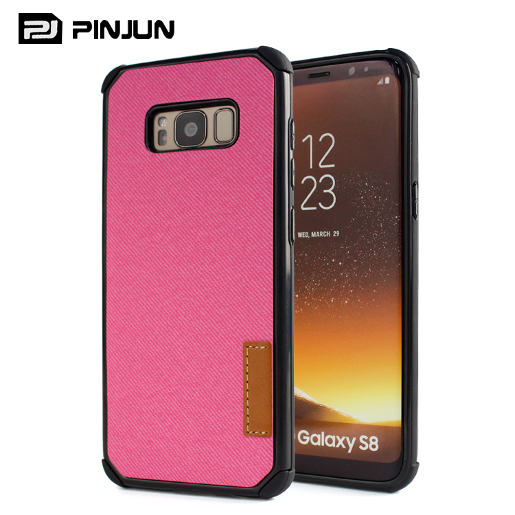 PU Leather + PC + TPU hard case bag cover for samsung galaxy s8 case mobile phone hybrid combo