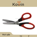 New style stainless steel pinking tailor scissors zigzag fabric scissors