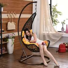 Fashionable garden hanging chair indoor rattan swing chair