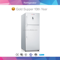 Stainless Steel Fridge Freezer White Refrigerator With Led Display