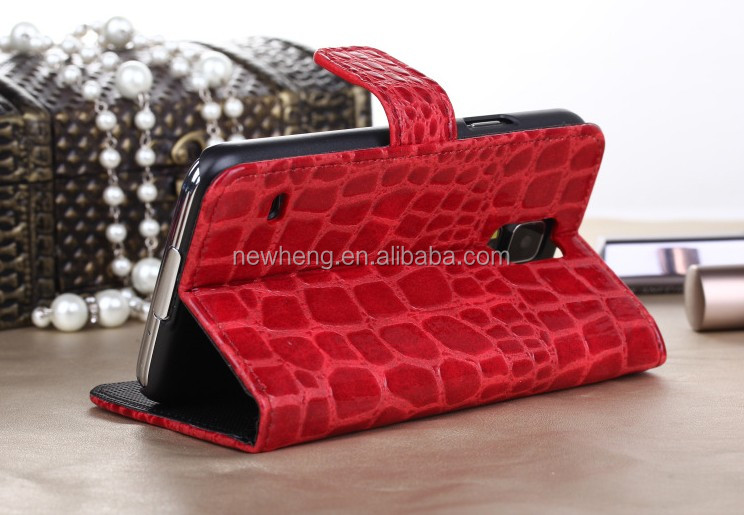 the latest universal crocodile leather phone case for Samsung S5