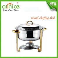 Deep chafing dish parts/food warmer & buffet server/round hot food buffet container
