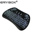Using for android linux tv box / tablet pc / laptop / smart tv backlit T2 mini wireless keyboard with touchpad