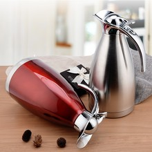 2L Double Wall Stainless Steel 2 Liter Vacuum Jug / Thermal Carafe / Insulated Pot for Coffee, Tea & Water with Plastic Lid
