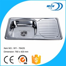 Topmount type royal single bowl sink for kitchen