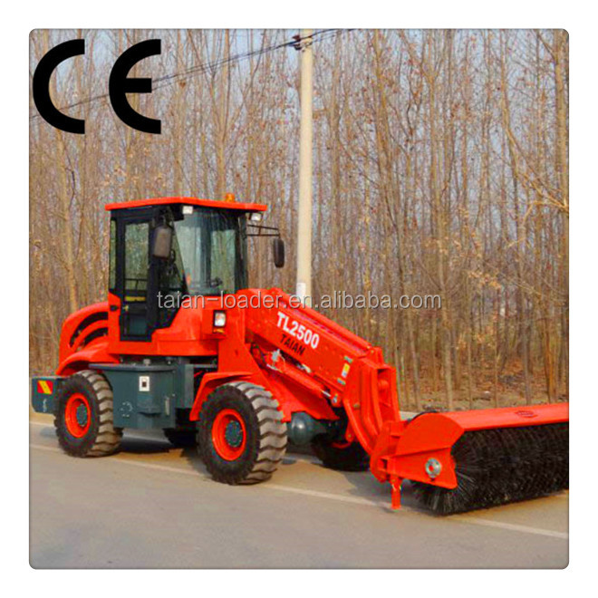 multifunction tractor front end loader TL2500 with lifting capacity 2500kg, 2.5TON telescopic wheel loader