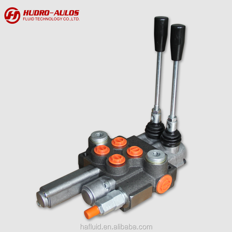 2P40 Tandem Spools Hydraulic Monoblock Directional Control Valve for tractor with floating spool
