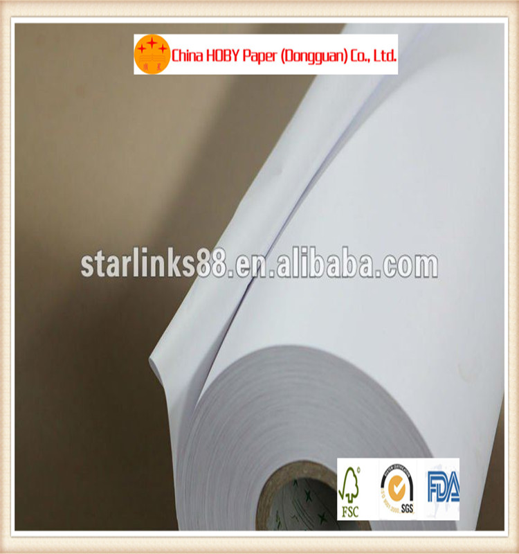 80 GSM 100% full wood pulp white kraft paper for sale