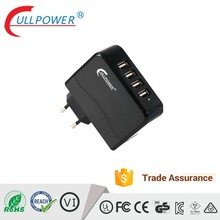 UL FCC CE approved hot sale 4port USB travel charger EU plug for smart phone