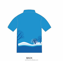 Custom design high quality quick dry breathable fabric Italy Ink sublimation printing short sleeve polo shirt