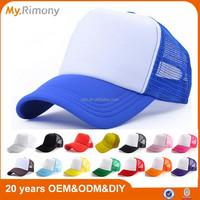 Xiamen good quality promotional custom blank trucker hat and cap