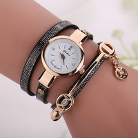 Wholesale Clock 2016 New Fashion Leather Strap Women Watch Hot Casual Leather Quartz Watch Reloj Mujer Relogio Feminino