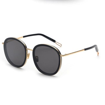 Chinese Manufacture Metal temple Colourful unisex Sunglasses big frame round fashion sunglasses