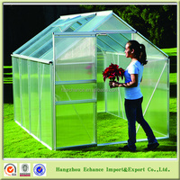Aluminium And Polycarbonate Board Garden Greenhouse