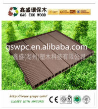solid hollow WPC deckinging/outdoor decking tile/swimming pool